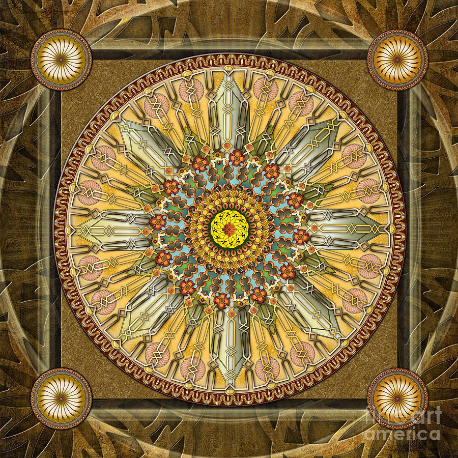 Mandala Digital Art - Mandala Illumination V1 by Bedros Awak