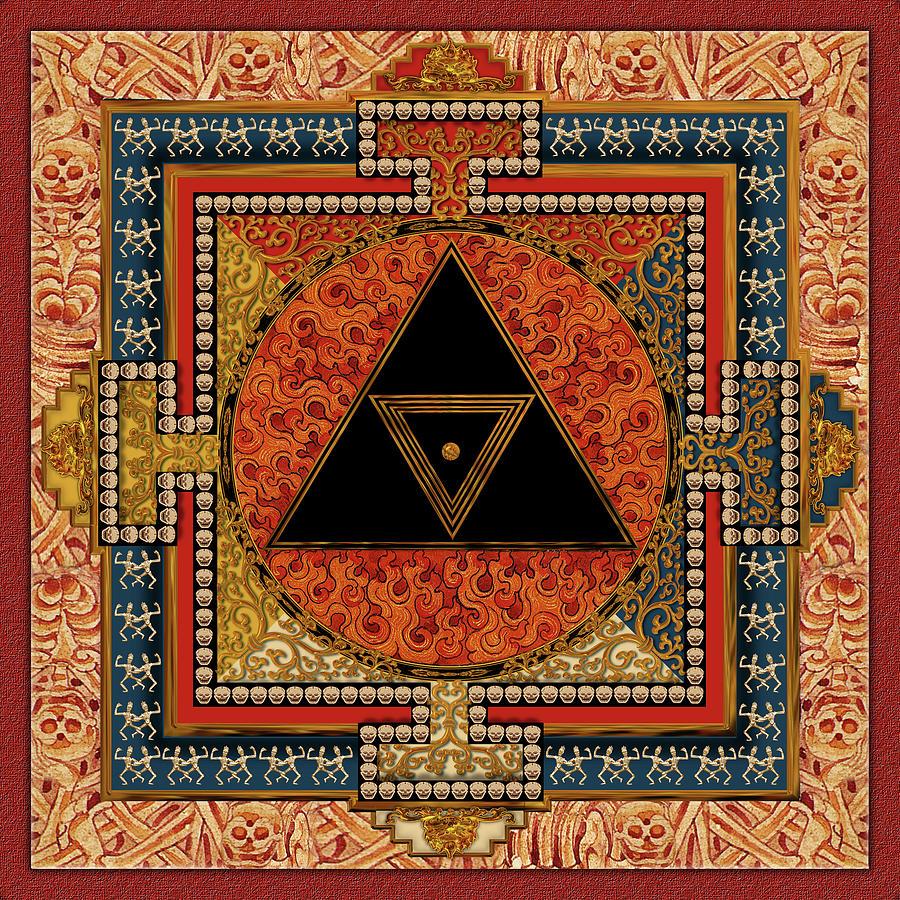 Mandala Digital Art - Mandala Kalichakre for HER by Mark Myers