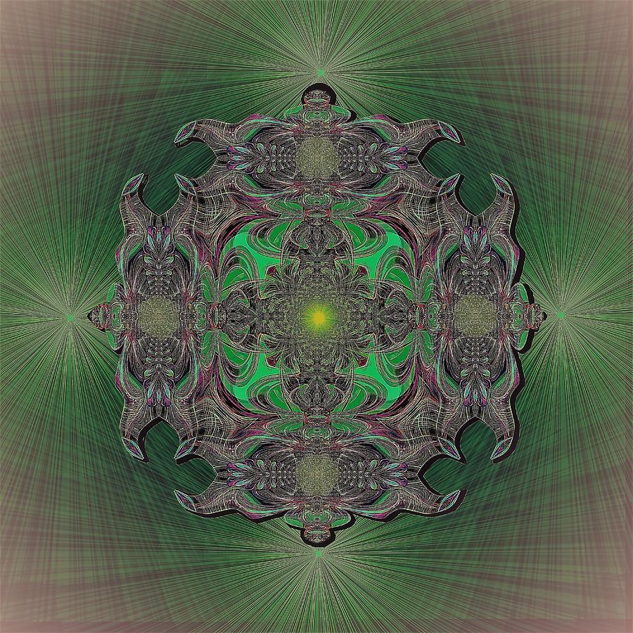 2432 Dark Mandala A Digital Art by Irmgard Schoendorf Welch