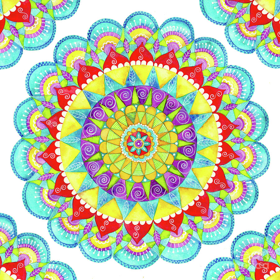 Mandala of Many Colors by Shelley Wallace Ylst
