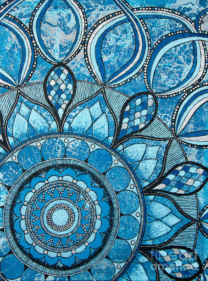 Elements Of Art Painting : Mandala of water element painting by home art
