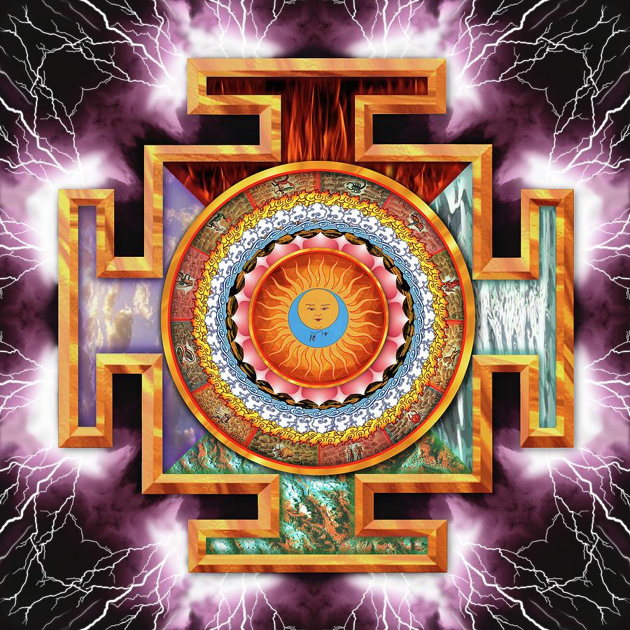 Mandala Painting - Mandala Tantra by Mark Myers