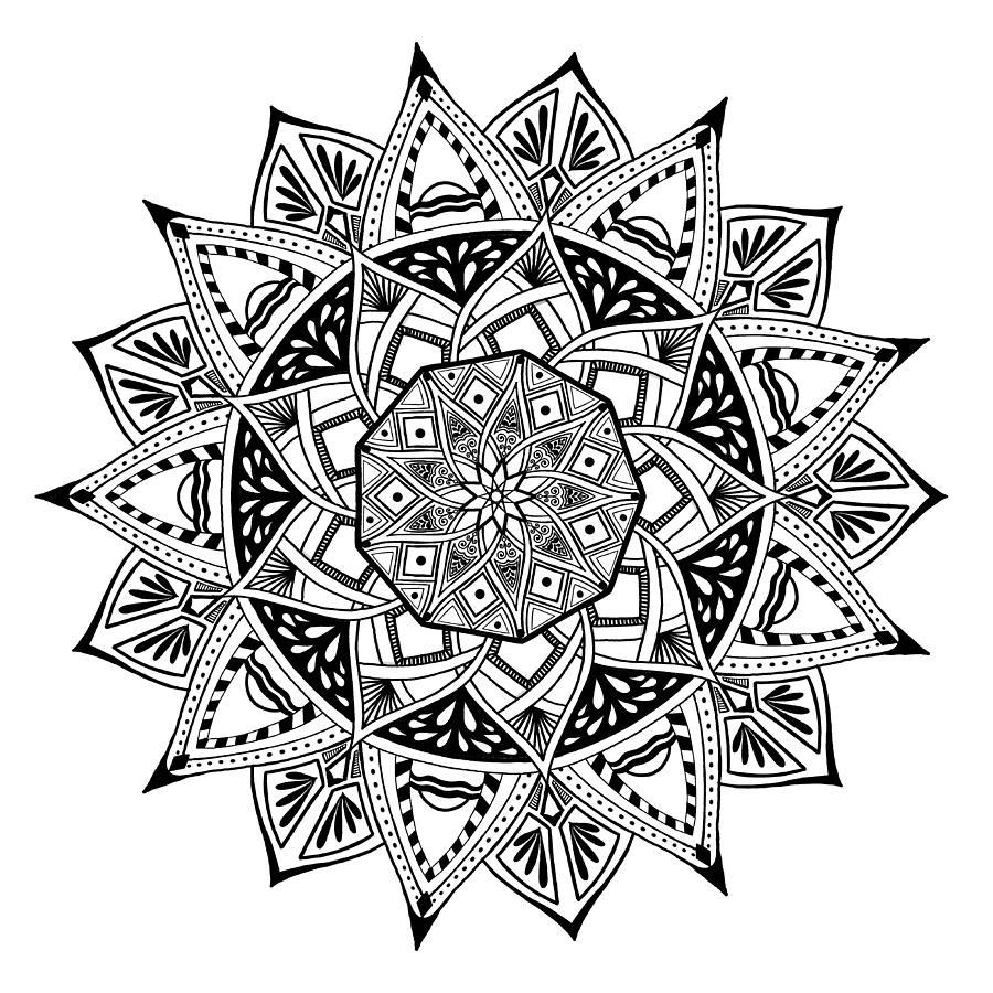 Mandala Digital Art - Mandala X 1001 by Lisa Schwaberow