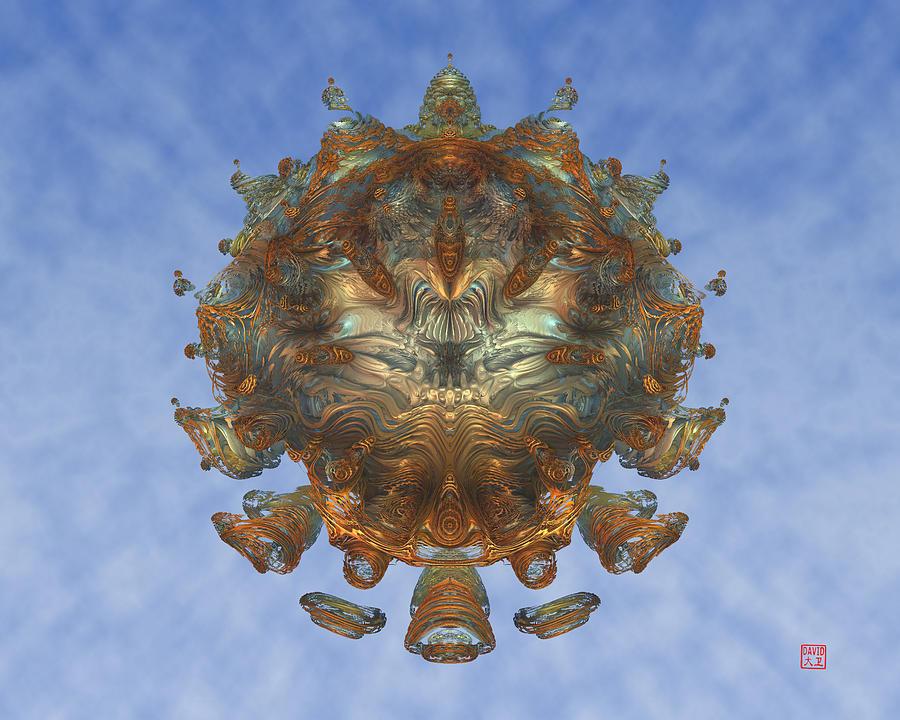 Mandala Digital Art - Mandalabrot by David Jenkins