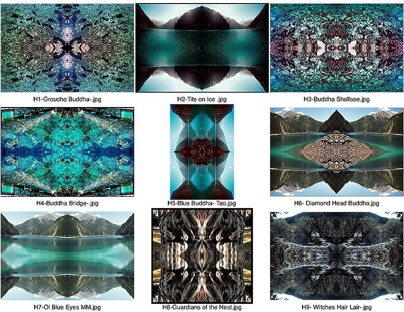 Mandalas Contact Sheet Photograph by Kevin  Gerien