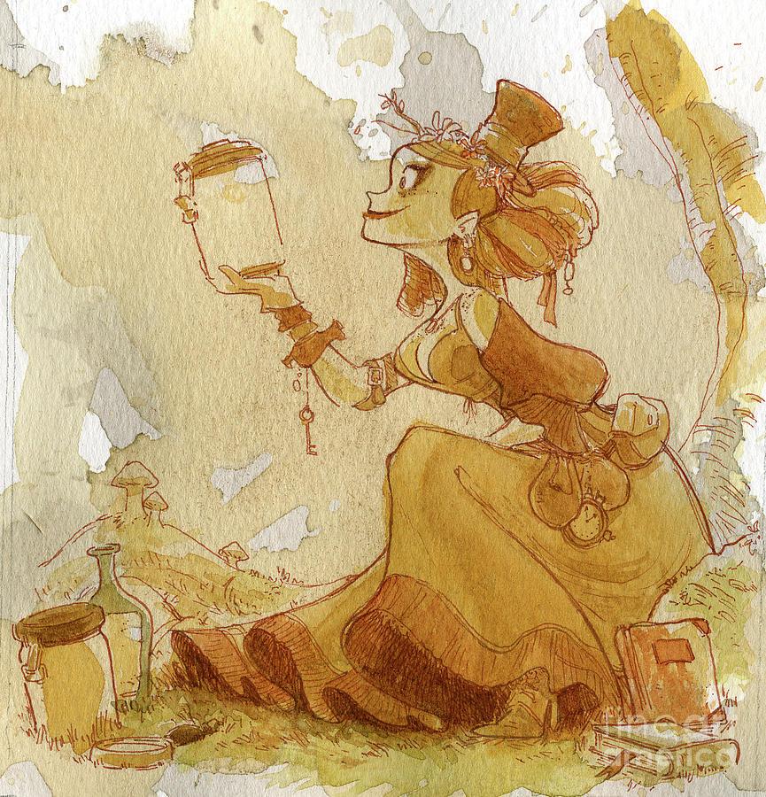 Steampunk Painting - Mandarin by Brian Kesinger