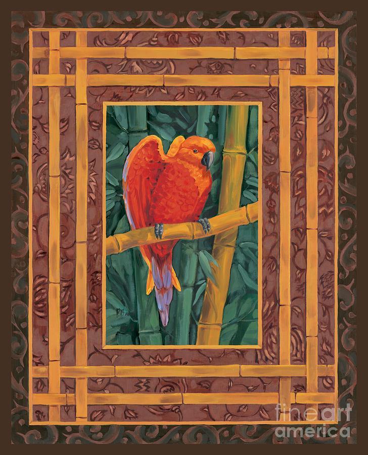 Mandarin Painting - Mandarin Lovebird by Paul Brent