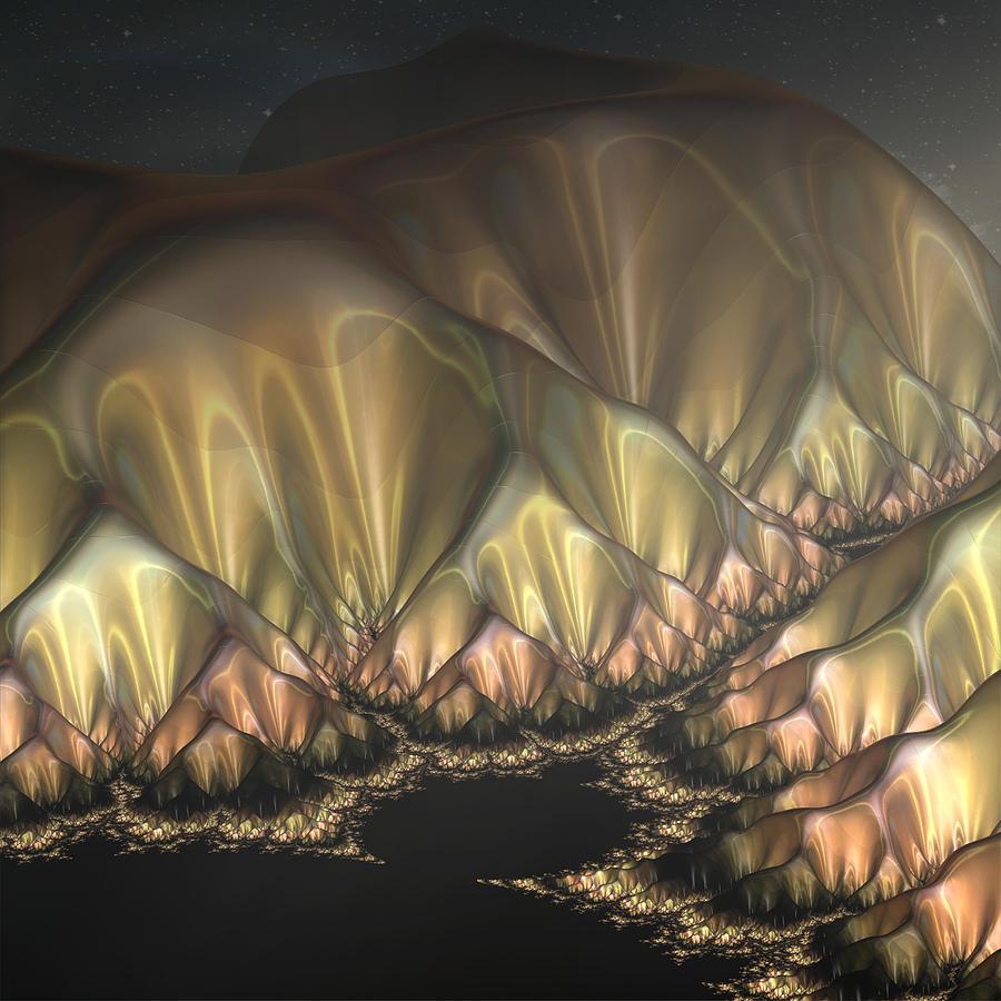 Mandelbrot Nights Digital Art