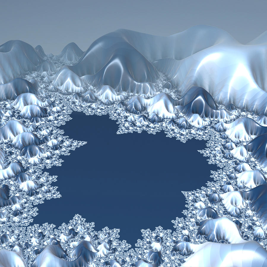 Mandelbrot Winter Digital Art