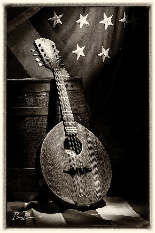 Guitar Photograph - Mandolin America Antique by Barry C Donovan