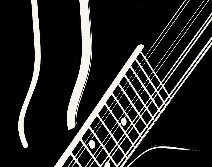 Mandolin Close BW by Jana Russon