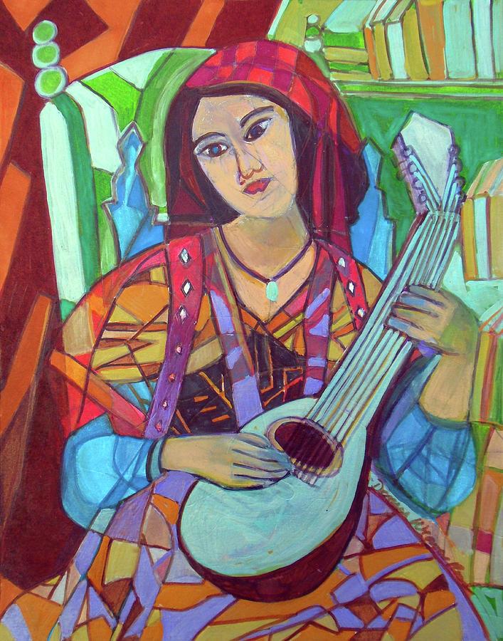Mandolin Painting - Mandolin-Eight Strings by Denise Weaver Ross