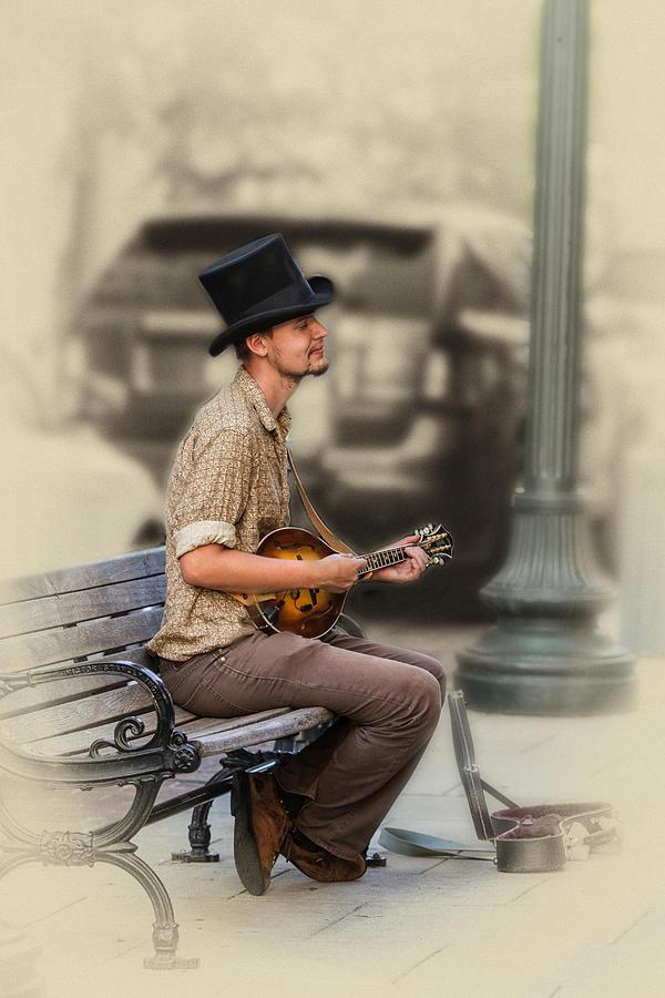 Mandolin Digital Art - Mandolin Music Man by John Haldane