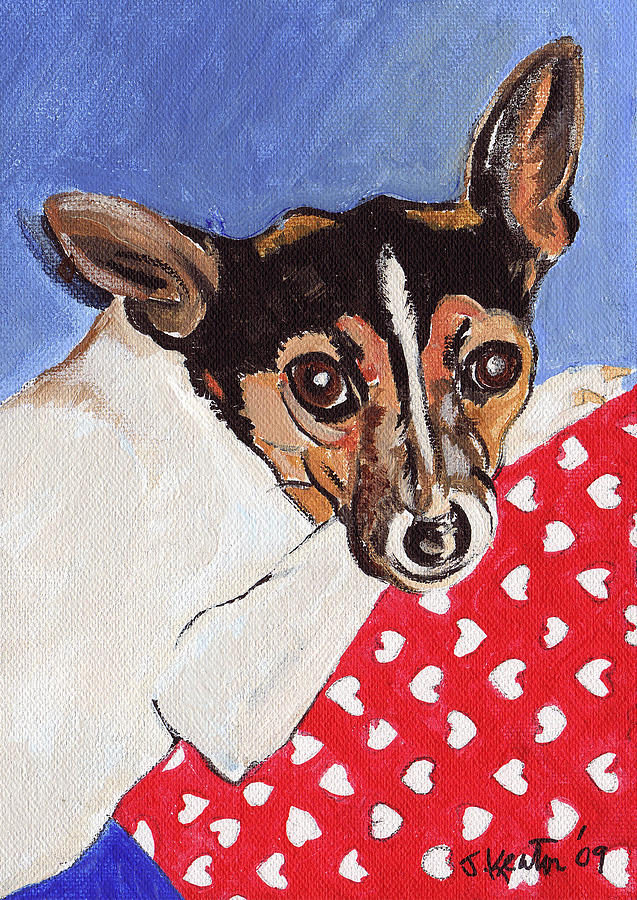 Dogs Painting - Mandy by John Keaton