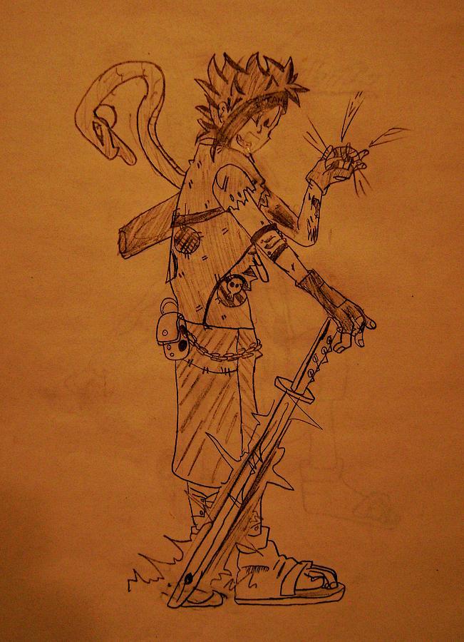 Manga Drawing - Manga Study 4 by Jean-Christophe Trahan