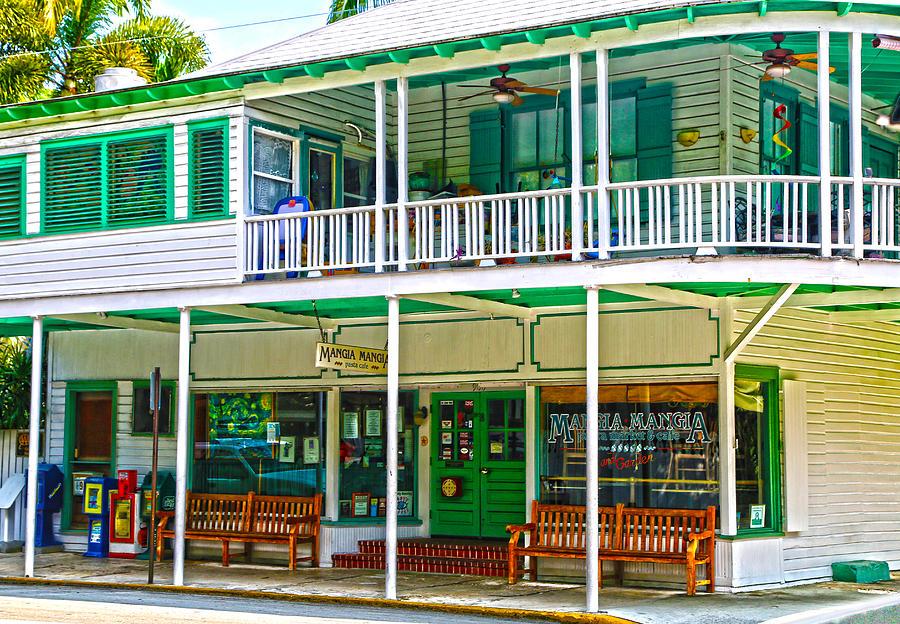 Key West Photograph - Mangia Mangia Pasta Market And Cafe On Key West Florida by Lee Vanderwalker