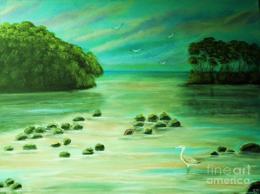 Manglares Painting by Iris  Mora