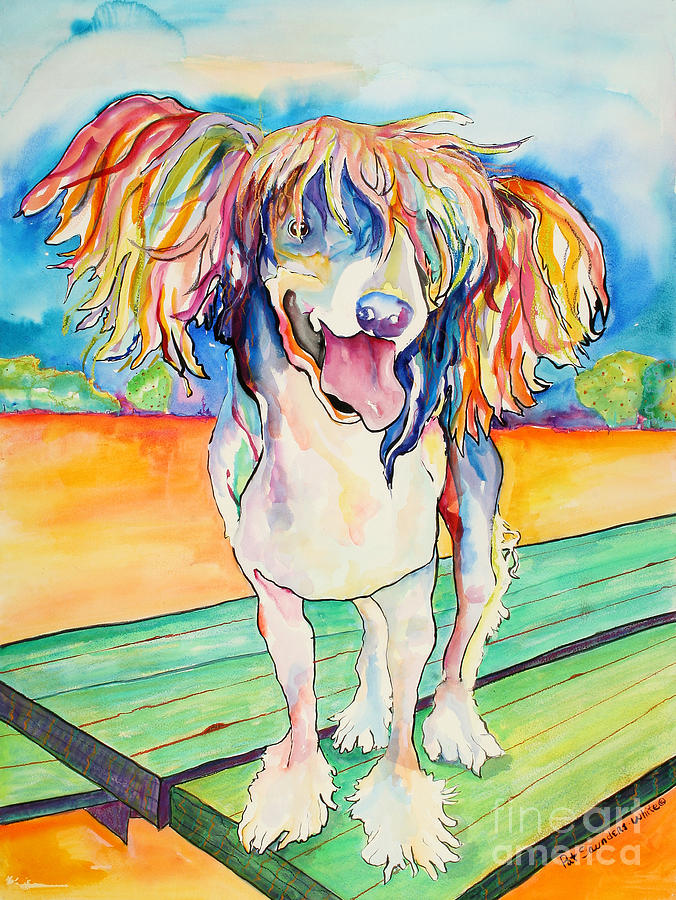 Chinese Crested Painting - Mango Salsa by Pat Saunders-White