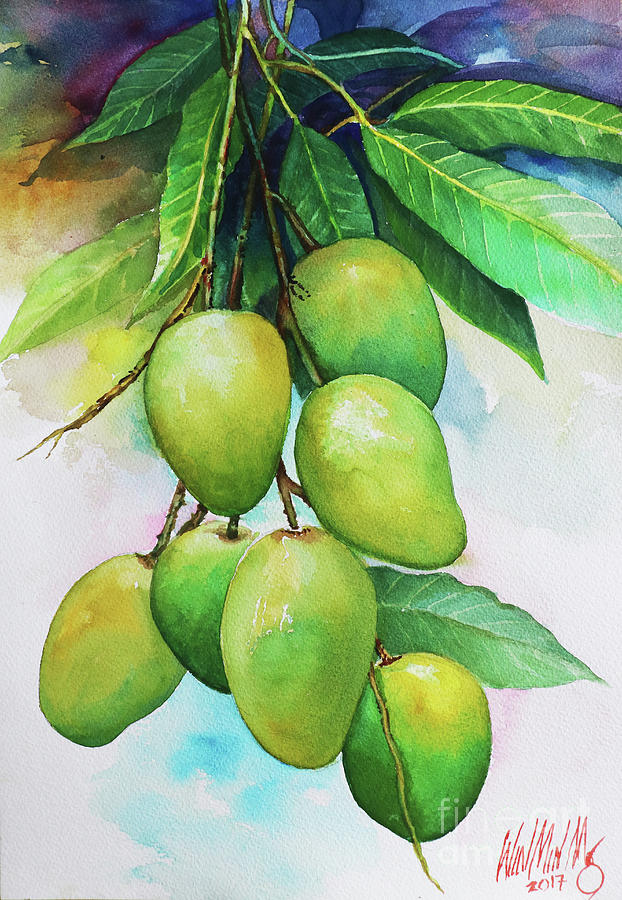 Landscape Painting - Mangos by Win Min Mg