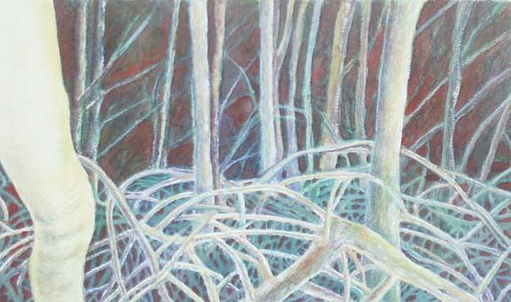 Mangrove Painting - Mangrove Forest by Carmen Durden