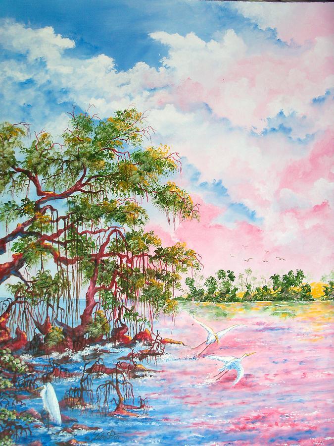 Landscapes Painting - Mangroves by Dennis Vebert