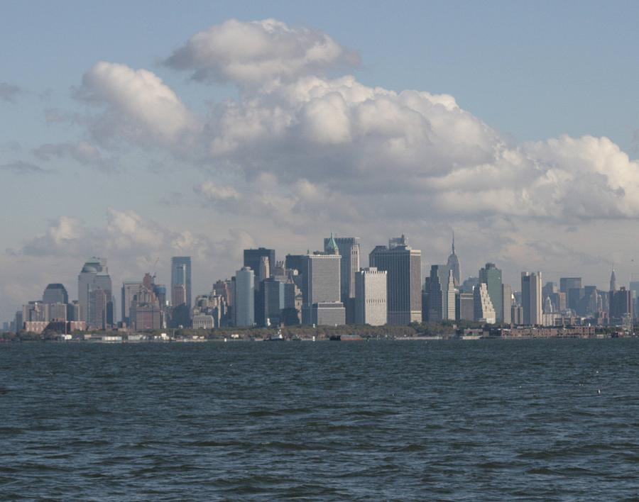 Manhattan Photograph - Manhattan And Governors Island by Christopher Kirby
