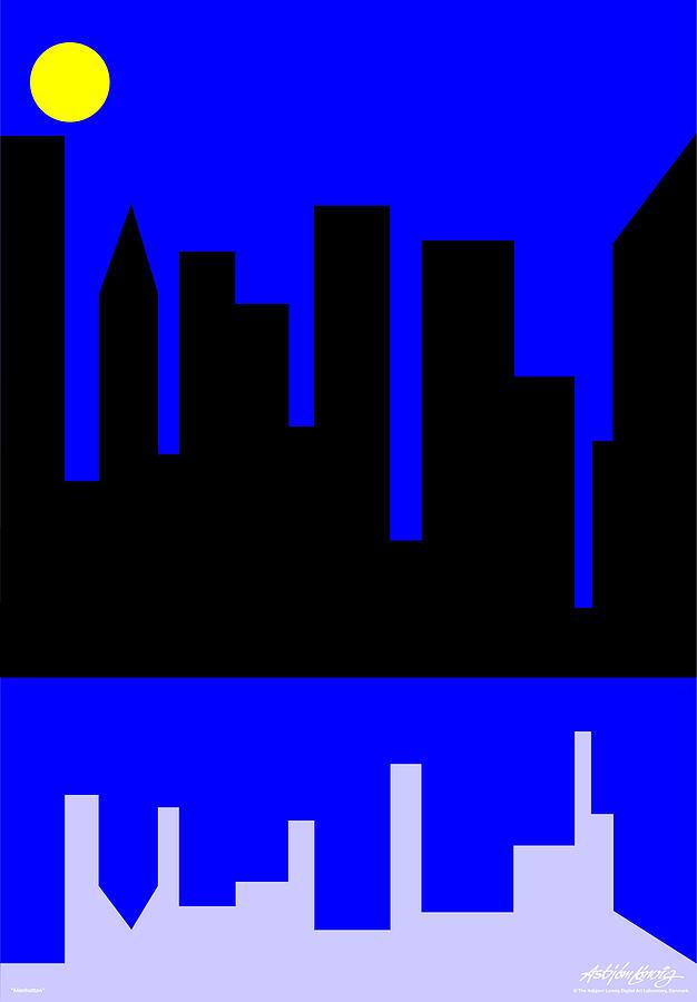 Manhattan Digital Art - Manhattan by Asbjorn Lonvig