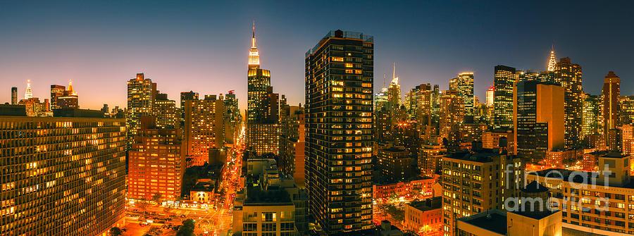 Manhattan At Night Photograph