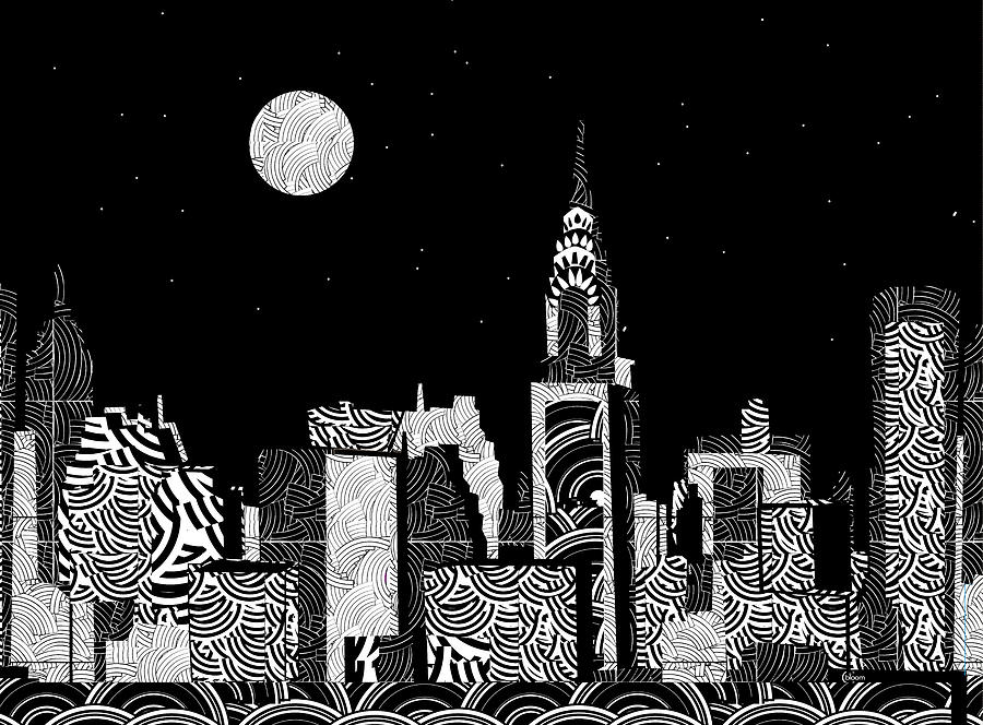 Manhattan Night...New York Deco by Cecely Bloom