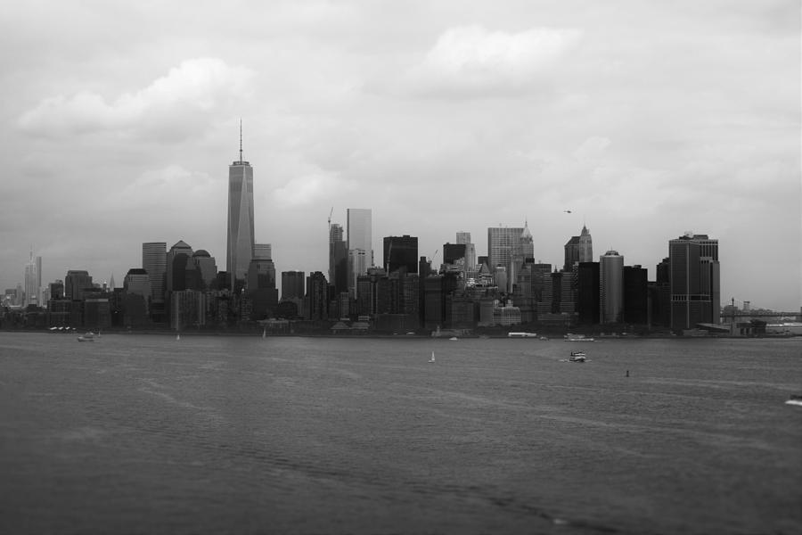 Manhattan Black And White Photograph by Parker ODonnell