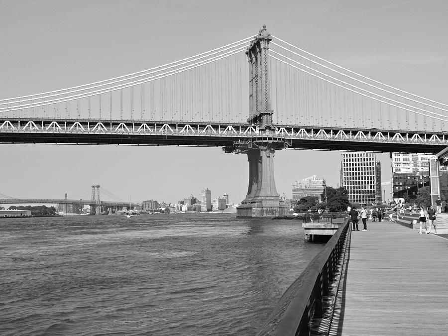 Manhattan Bridge from Brooklyn Bridge Park by Emmy Vickers