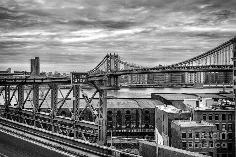 Cities Photograph - Manhattan Bridge by John Farnan
