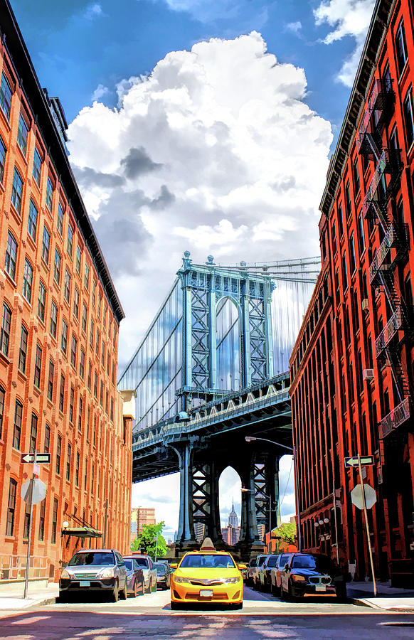 Manhattan Bridge New York City Painting By Christopher Arndt