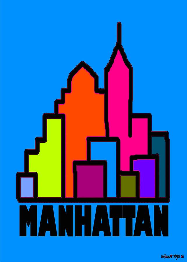 Manhattan Print - Manhattan Colors by Alexander Aristotle