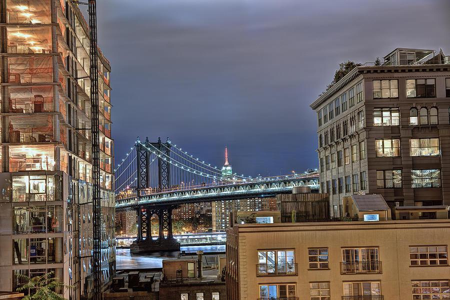Bridge Photograph - Manhattan Empire State by Michael Tischler