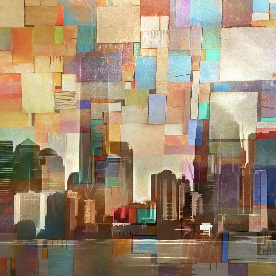 Manhattan Painting - Manhattan Impression by Lutz Baar