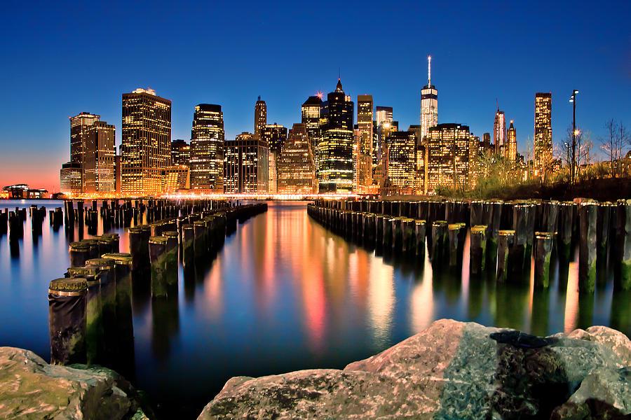 New York City Photograph - Manhattan Skyline At Dusk by Az Jackson
