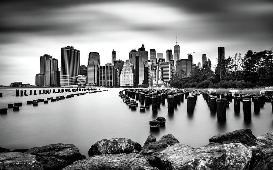 Manhattan Skyline Bw Photograph by Framing Places