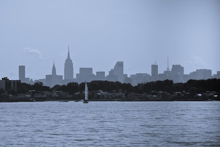 Manhattan Photograph - Manhattan Skyline From Syc 1 by Arthur Sa