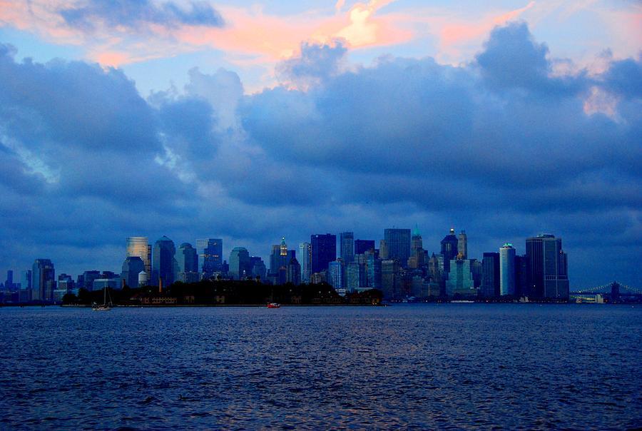 Photographs Photograph - Manhattan Skyline I by Fareeha Khawaja