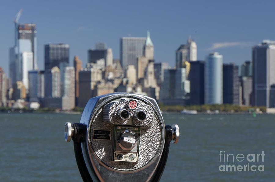 Binocular Photograph - Manhattan Skyline New York  by Juergen Held
