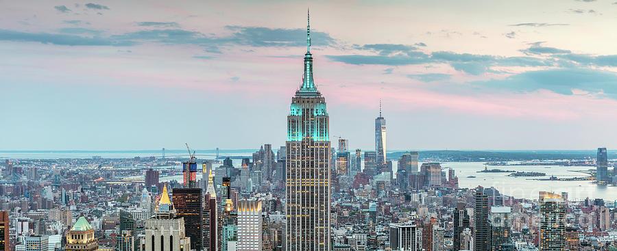 New York City Photograph - Manhattan Skyline Panoramic, New York City, Usa by Matteo Colombo
