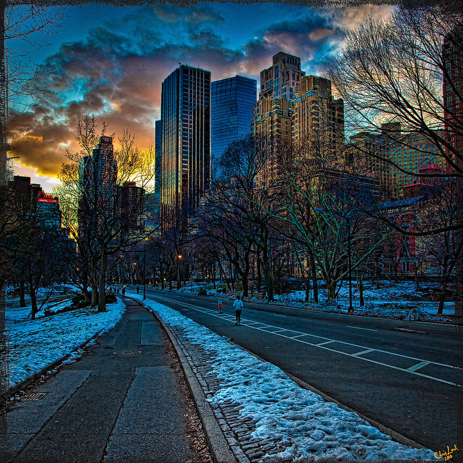 Central Park Photograph - Manhattan Sunset by Chris Lord