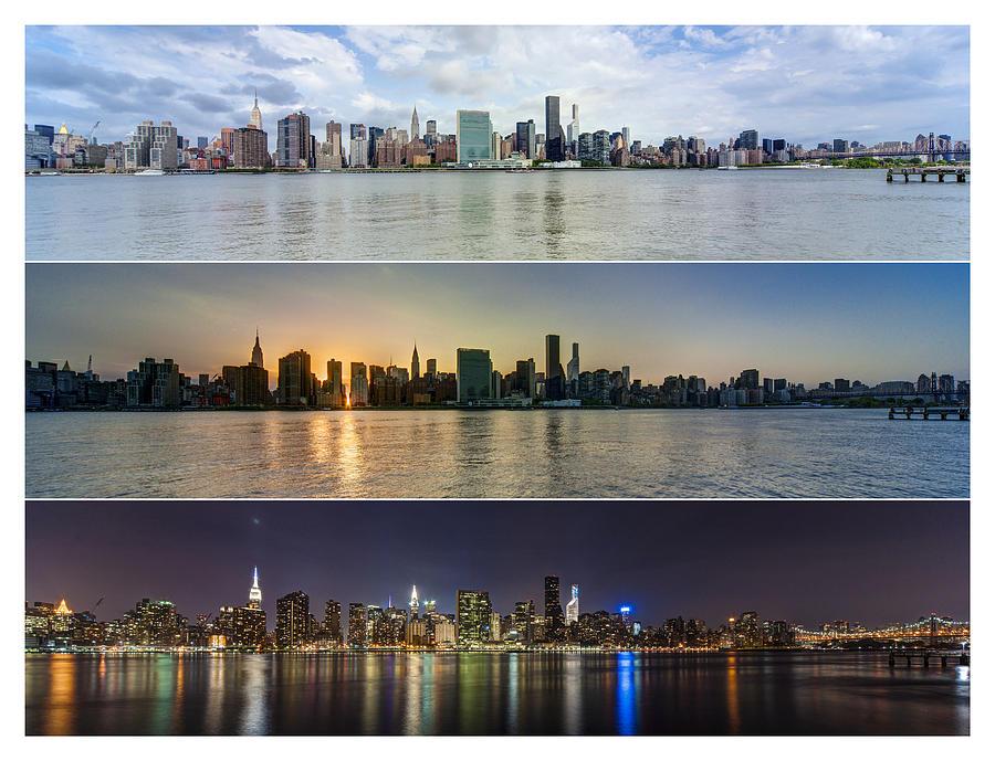 Manhattanhenge Photograph - Manhattanhenge View From Across East River by Sasha Karasev