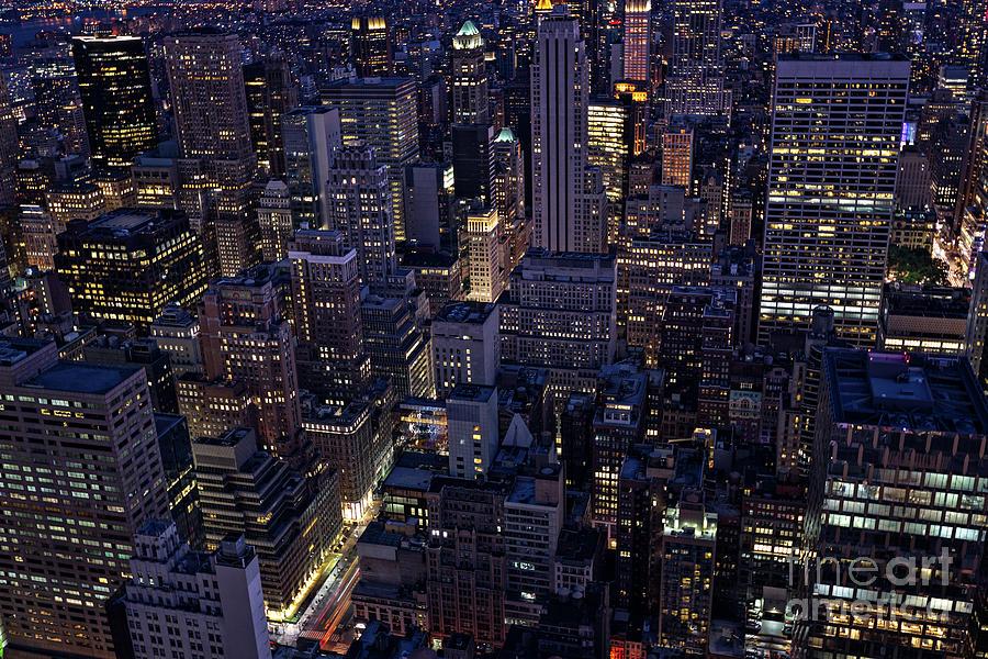 Manhattan's skyscrapers by Franz Zarda