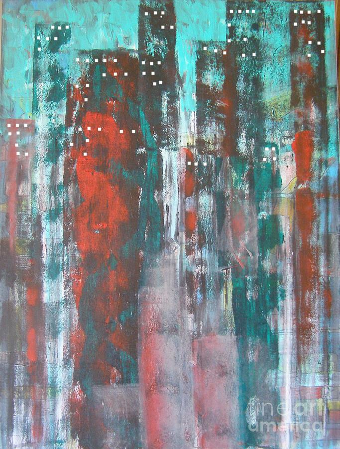 Abstract Painting - Manhatten Castles by Don Phillips