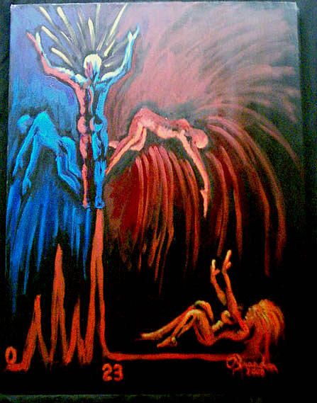 Bipolar Painting - Manic Enlightenment by Brandon Krause