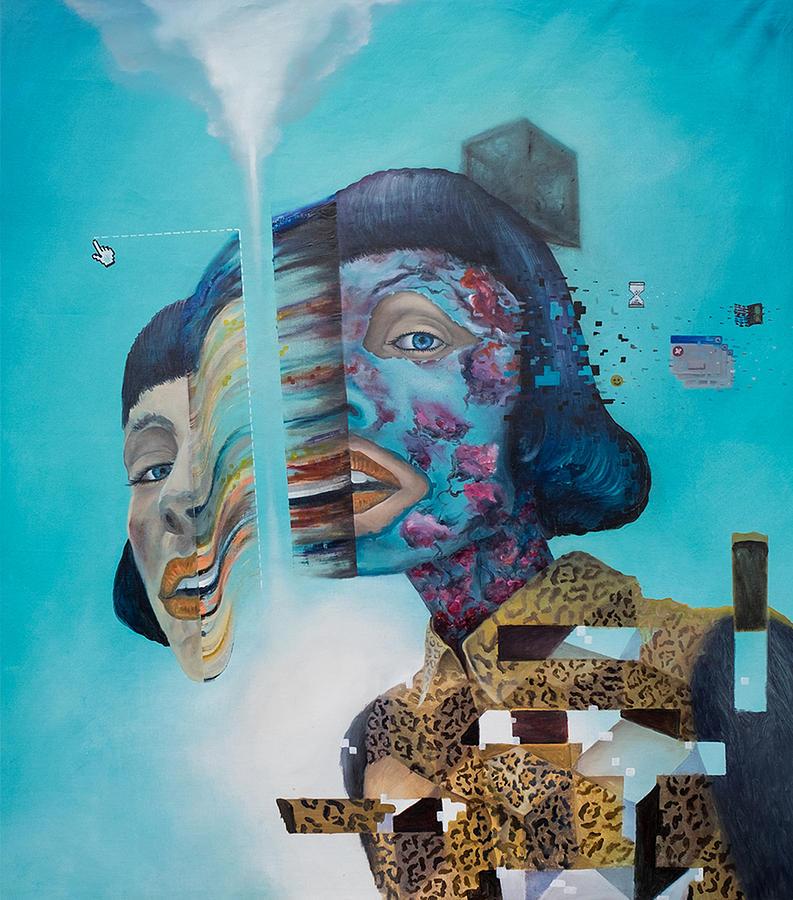 Surrealism Painting - Manipulation by Obie Platon