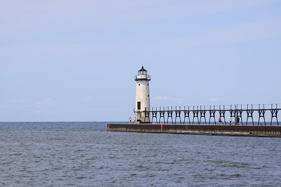 Lighthouse Photograph - Manistee Lighthouse by Chuck Bailey