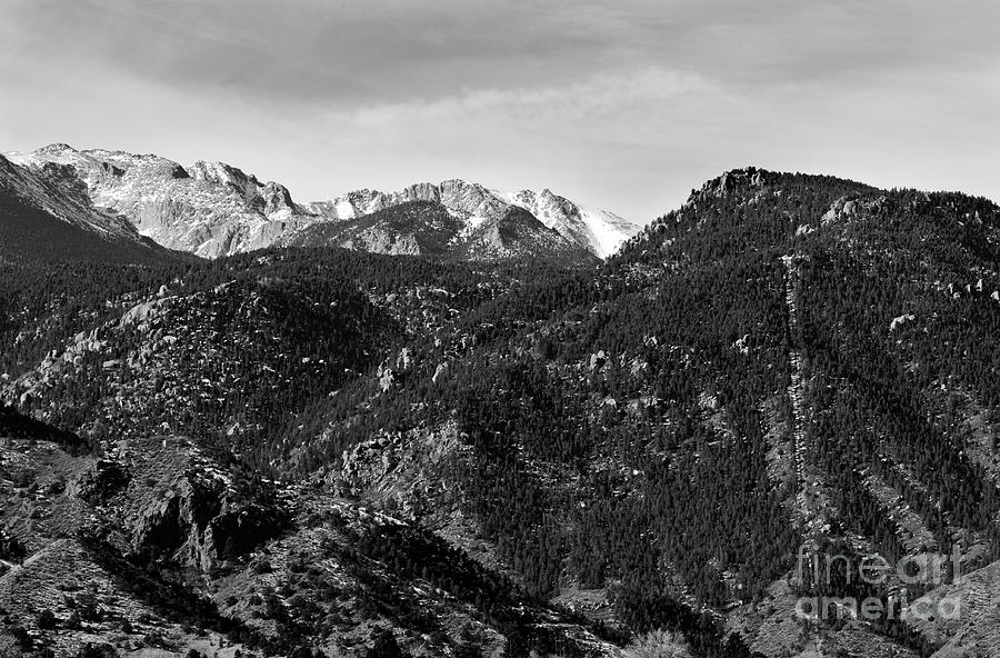 Manitou Incline Photograph - Manitou Incline and East Face of Pikes Peak by Steven Krull